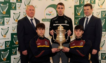 Kilkenny CBS and St Kierans College Captains pose ahead of 2016 Leinster Final