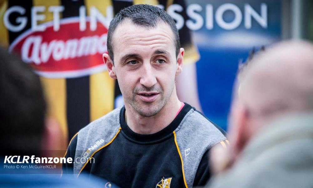 KIlkenny senior hurler Eoin Larkin pictured speaking to the media. Photo: Ken McGuire/KCLR