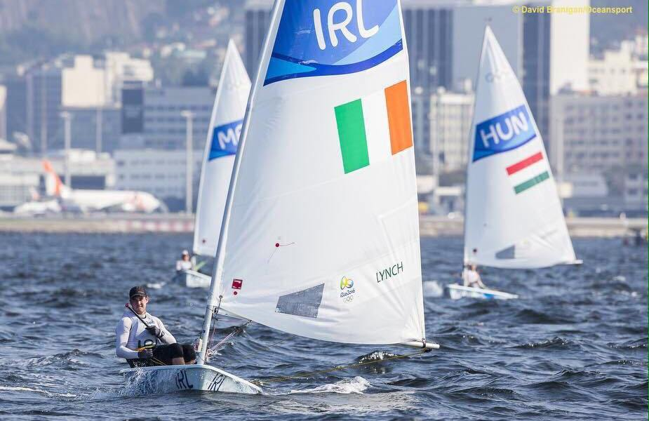 Finn Lynch pictuerd competing during the 2016 Olympic Games in Rio, Brazil. Photo: Finn Lynch Sailing/Facebook