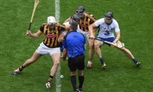 Kilkenny and Waterford in the All-Ireland Senior Hurling semi-final at Croke Park on Sunday 8 August 2016. Photo via GAA.ie