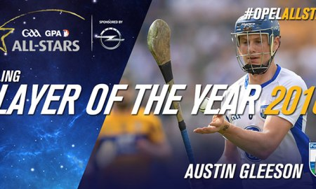 2016's Hurler, and Young Hurler of the Year, Austin Gleeson