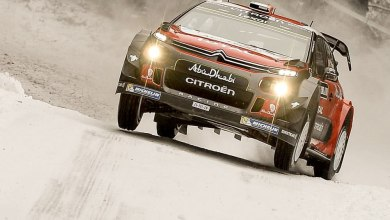 Citroen WRC at Rally Sweden. Photo: Craig Breen/Facebook