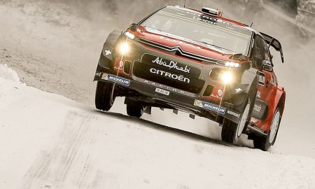 Citroen WRC at Rally Sweden. Photo: Craig Breen/Facebook