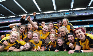 Myshall crowned All Ireland Intermediate Camogie Champions. PIC: Inpho Photography