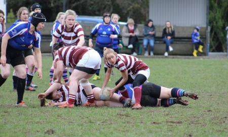 Tullow Ladies in rugby action. Photo John Tobin/Clare Nolan/Facebook