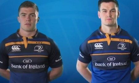 Leinster's Luke McGrath and Johnny Sexton. Source: YouTube