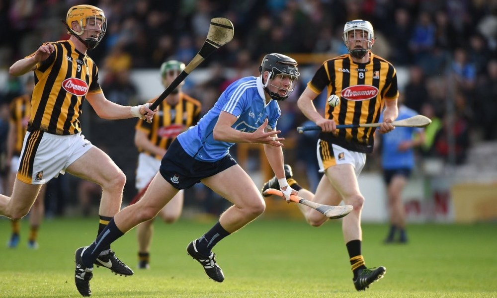 Dublin v Kilkenny in U21 huling action at Nowlan Park. Photo: @DubGAAOfficial/Twitter