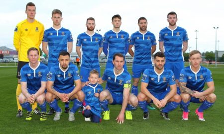 Waterford FC, captained by Kilkenny's David Mulcahy. Photo: Waterford FC/Facebook