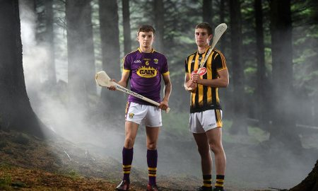Wexford Harry O'Connor and Kilkenny's Alan Murphy. Photo by Ramsey Cardy/Sportsfile