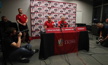 Rory Best and Warren Gatland (centre). Photo: LionsRugby.com