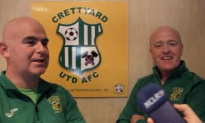 Crettyard United's Patrick Brennan and Billy Nolan