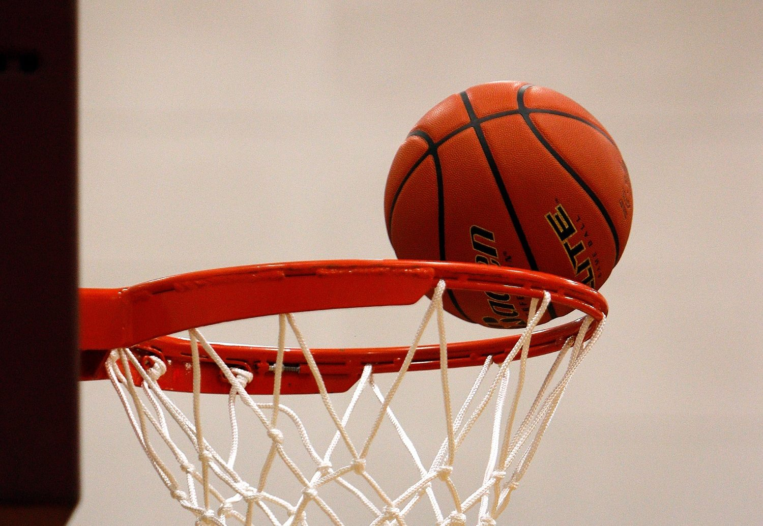 Basketball rim. File photo.