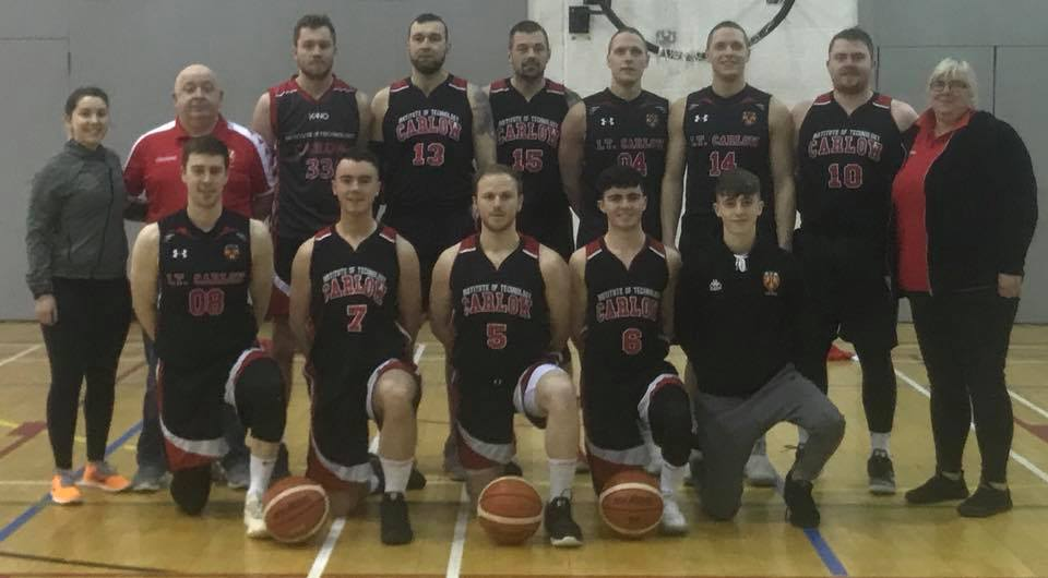 IT Carlow Basketball Men's team. Photo: IT Carlow Basketball/Facebook