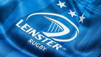 A closeup of the new Leinster Rugby home jersey for 2018/19
