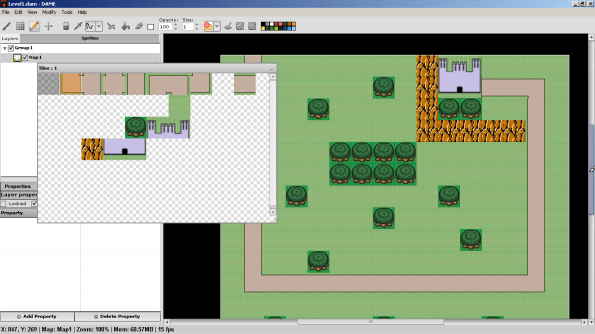 Deadly Alien Map Editor in action