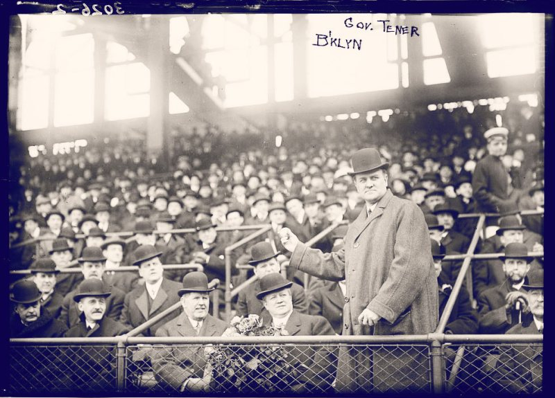 Look at all these white motherfuckers having a great time while Pennsylvania Governor John Tener throws out the first pitch. This was April 14, 1914, a random example of a great April 14th. (Photo: Bain News Service, LOC)