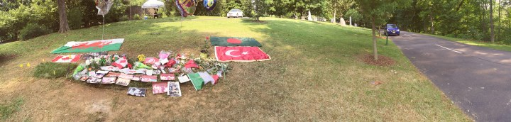 Ali's gravesite in Cave Hill Cemetery a couple days after the memorial.