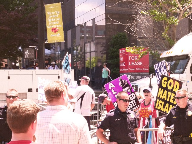 Protesters from the Westboro Baptist Church do their best to ruin even the most beautiful of events.