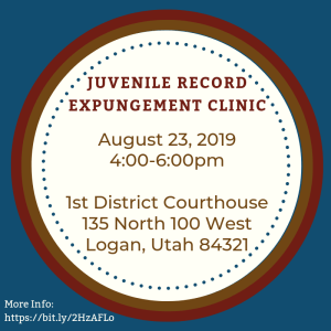Juvenile Record Expungement Clinic @ 1st District Courthouse        