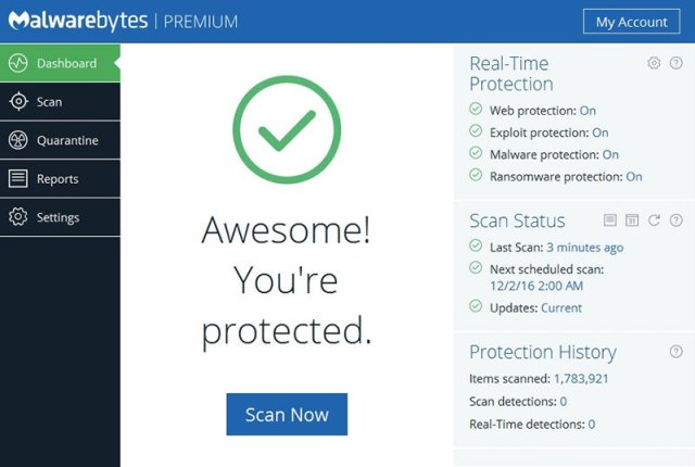 Malwarebytes Premium 3 Full Version Cracked Dasboard