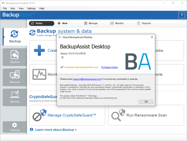 BackupAssist Desktop Crack Serial Key