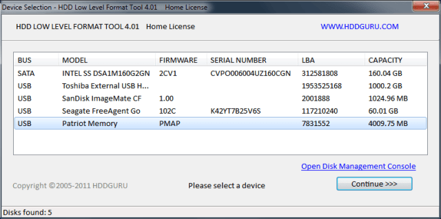 HDD Low Level Format Tool Crack Serial Key