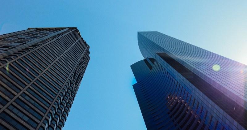 Two skyscrapers in Seattle