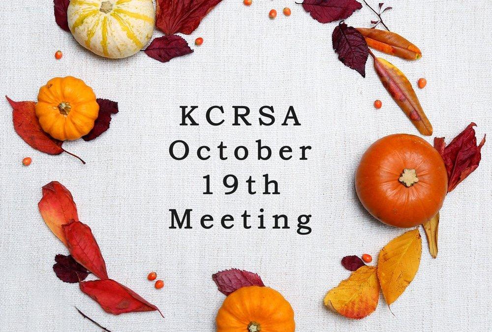 Fall Meeting October 19
