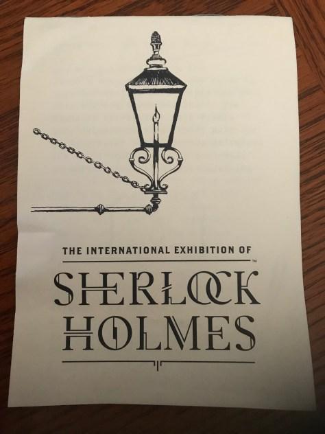 Sherlock Holmes Exhibition Clue Book