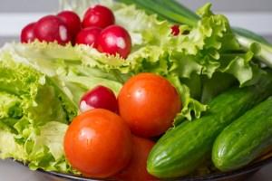 salad, fresh, vegetables
