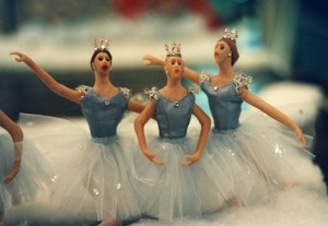 The dolls were fashioned from Sculpey by Hynes' art teacher husband, Jim Zulakis. (Photo from the artist)