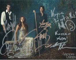 Signatures! Ian Somerhalder <3, Paul Wesley, Sebastian Roche, Matt Davis, Steven Krueger (Not taken or edited by me.)