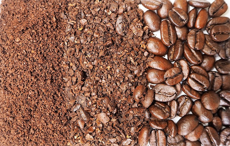coffee of various grind sizes