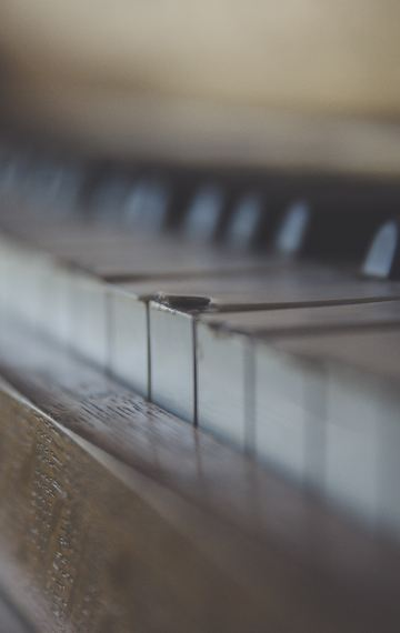 A piano in space