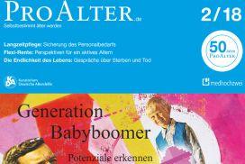 Coverausschnitt Ausgabe 2-2018 ProAlter - Babyboomer