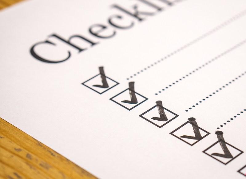 Illustration einer Checkliste