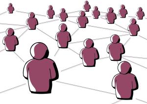 Illustration Menschen sind miteinander vernetzt