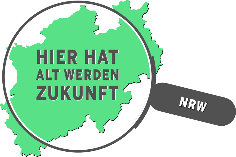Logo Nordrhein-Westfalen - hier hat Alt werden Zukunft