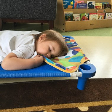And with so much play and discovery... rest is essential for growing brains and bodies too!