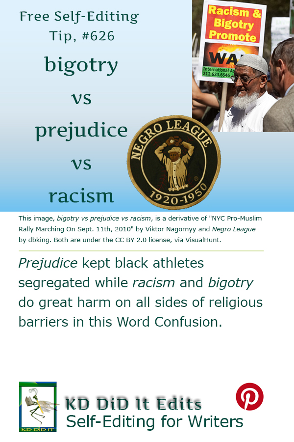 Pinterest pin for Bigotry vs Prejudice vs Racism