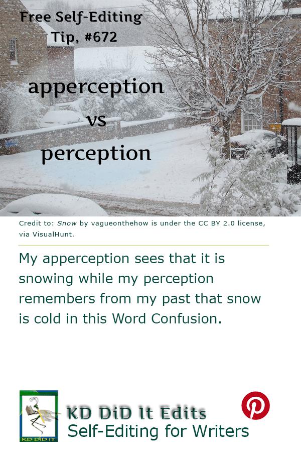 Pinterest pin for Apperception versus Perception