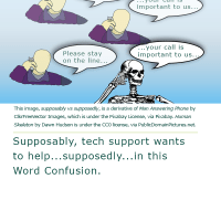 Word Confusion: Supposably versus Supposedly
