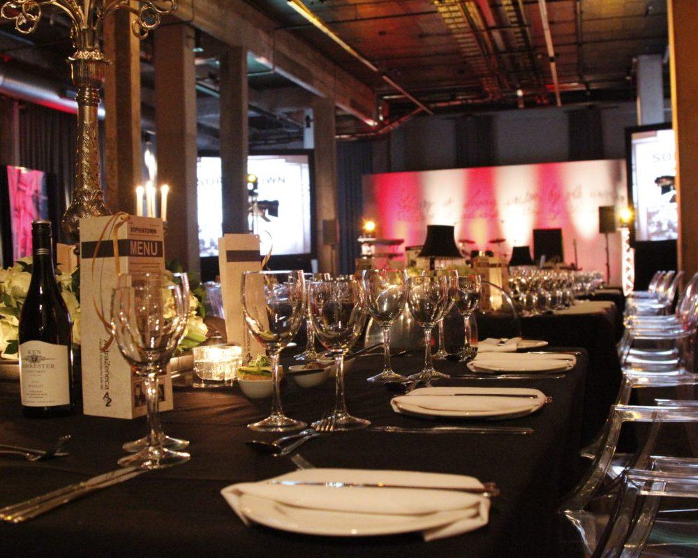 Gala dinner Turbine hall
