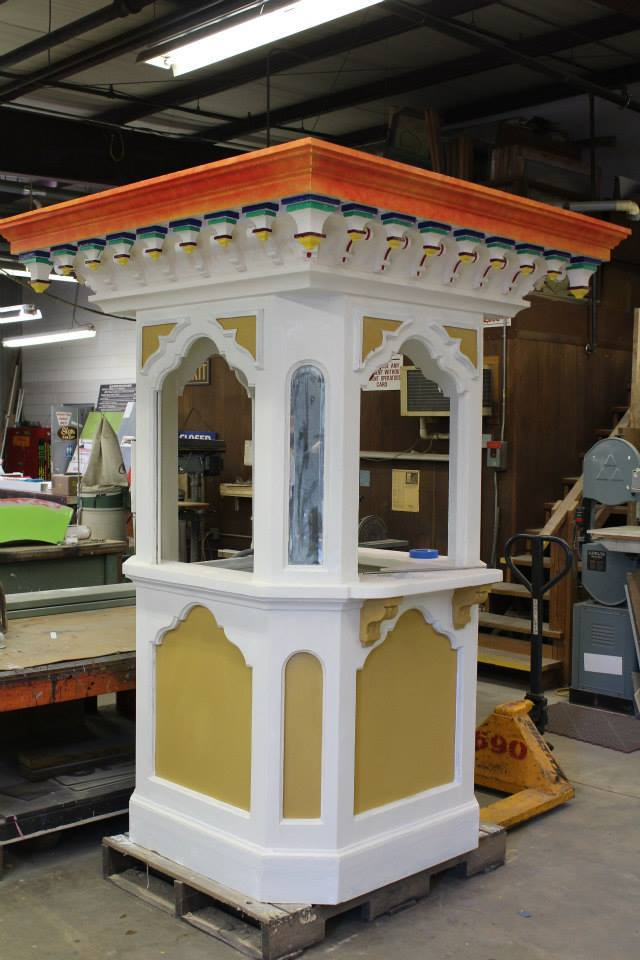 The original ticket booth that was built for the Carousel before it was at Kings Dominion is being refurbished and will be coming back to the Carousel.