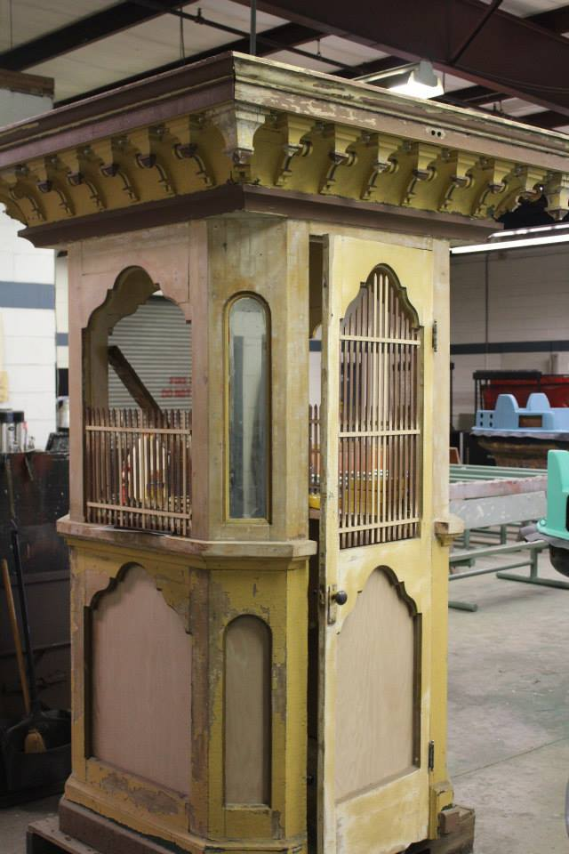 Original Ticket Booth from 1974 that was purchased with the ride!