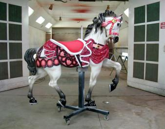 The completed horse. Ruby is looking great