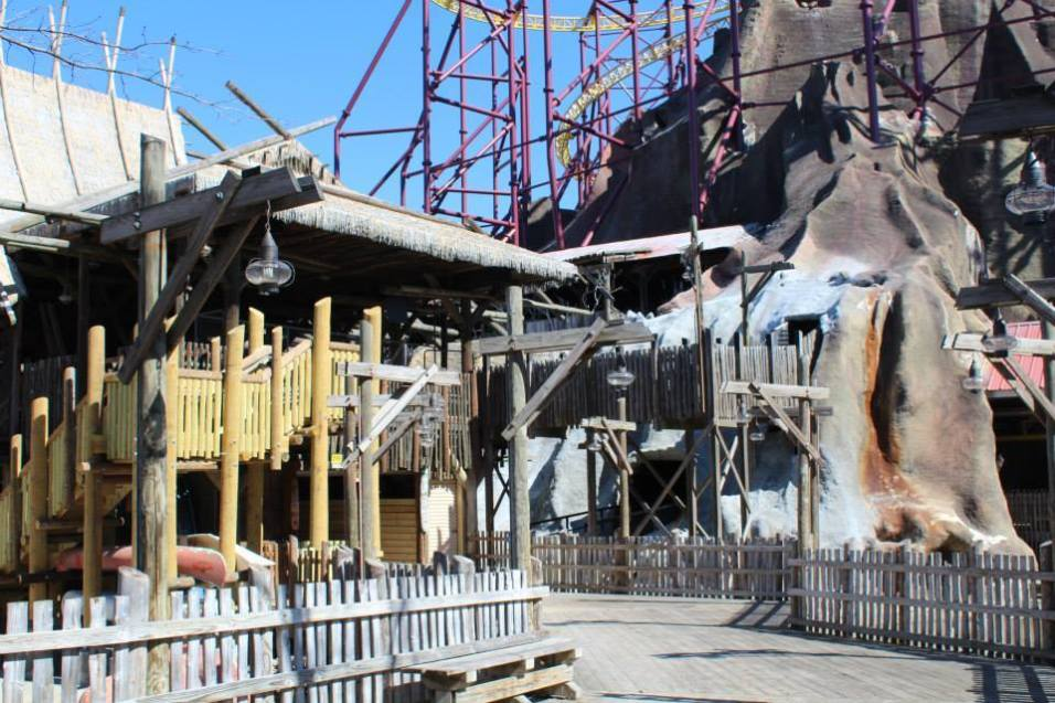 Work has continued on Volcano. These improvements are also to help improve how many riders can ride per hour.