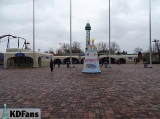 Birthday cake at the entrance. mmmmm