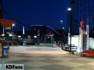 The lights stretch all the way to the Intimidator 305 plaza!