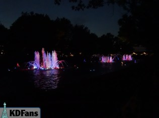 Red, White, and Blue Fountains
